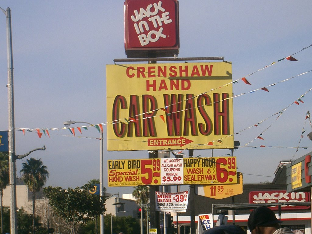 The famous Crenshaw Hand Car Wash