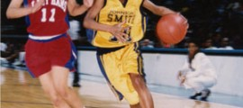 Shani Baraka,  leads the Lady Golden Bulls in 668 assists, an ALL-CIAA Performer.