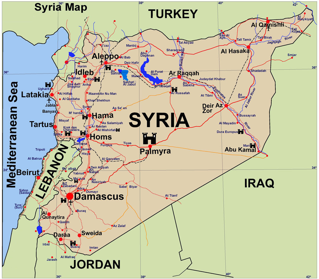 Syria Crisis Where Key Countries Stand Dominique DiPrima - Where is syria